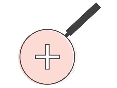 Magnifying glass icon logo icon
