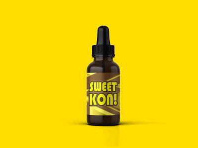 mock up the e-liquid bottle ( SWEET KON )