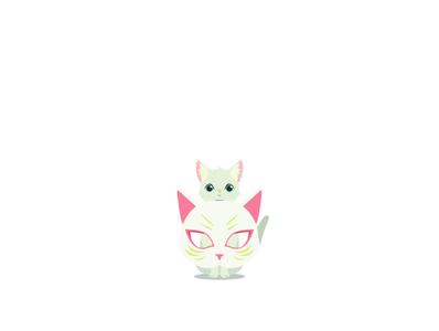 Taro vector mask design character design cat a whisker away illustration anime