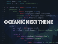 Oceanic Next Theme