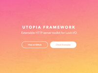 Utopia Framework Landing