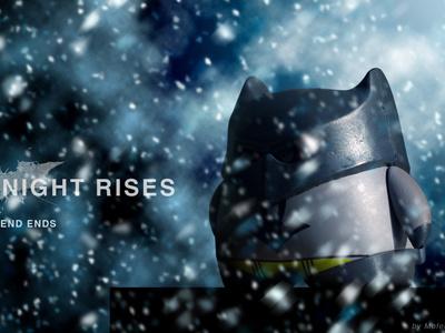 The Dark Knight Rises batman poster doll