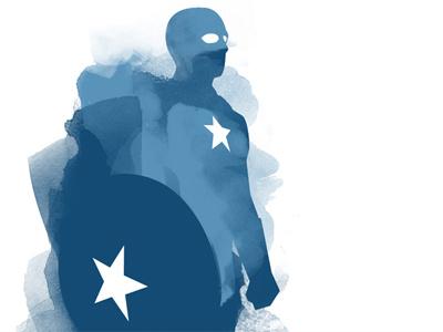 Captain America captain america avengers watercolour
