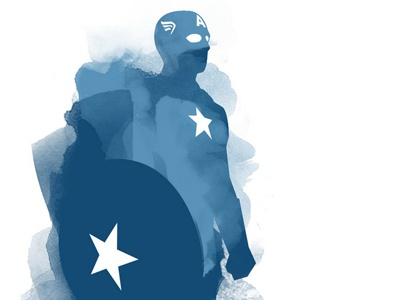 Captain America updated version captain america avengers watercolour