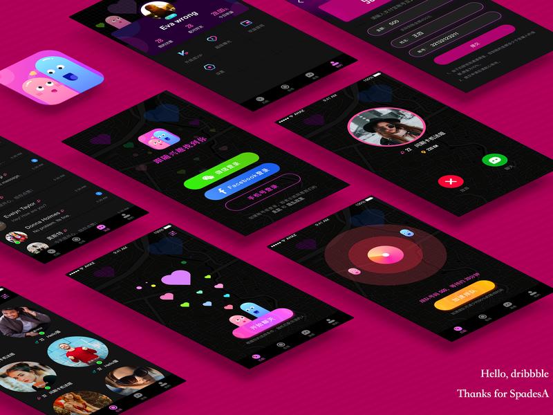 Hello dribbble chat app ux app design logo illustration ui