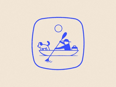Russian river adventure sport paddle fishing hat sun logo dog kayak canoe river