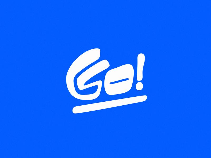 Go! logo typeface typography