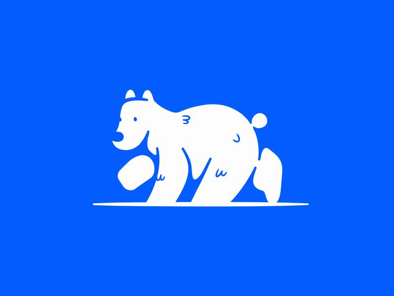 Bear WIP illustration california logo bear