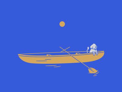 Olivia in a canoe