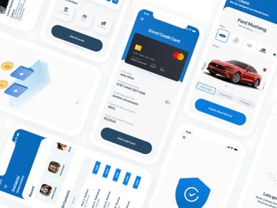 Clean Banking Application minimalist banking ux webdesign ui