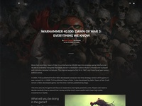 Gaming website article page
