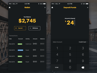 iOS wallet design