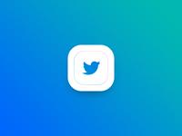 Twitter Gradient App Icon