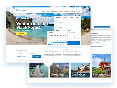 Airport website homepage pacific cebu beach travel airport redesign website home