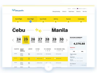 Cebupacific Flight Search home website redesign airport travel beach cebu pacific