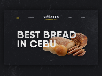 Bread website landing page landing page wip ciabatta bread