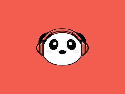 DJ Panda marion serenio red cute illustration dj panda