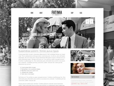 Minimalist blog view