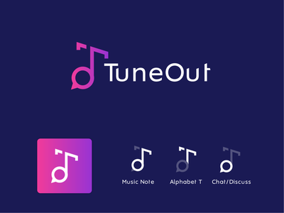 TuneOut Logo Design