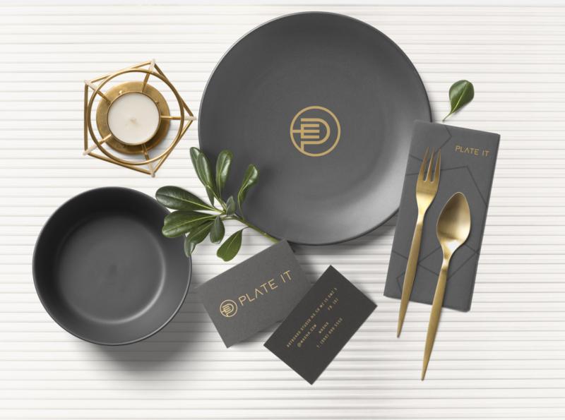 Plate IT  Restaurant Brand Identity Design retro plateit plate hotel food branding right diamond idenity excellent design wordmark logo
