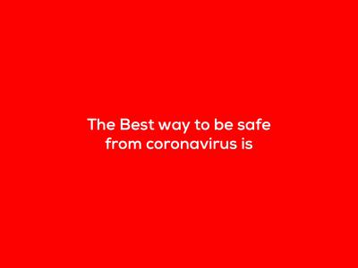 Be Safe From Coronavirus virus coronarender distance social safe coronavirus corona right idenity design excellent wordmark logo