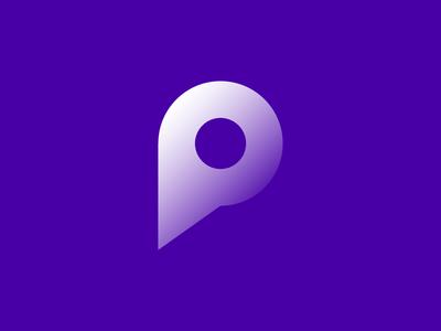 Alphabet P architecture branding illustration diamond camera right idenity design excellent wordmark logo