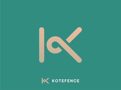 Kotefence Identity Design fence kote camera architecture branding illustration diamond right idenity design excellent wordmark logo