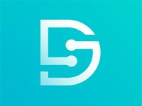 S + D Tech Exploration sd architecture branding illustration diamond right idenity design excellent wordmark logo