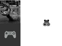 Hippo Gamer   Animal Logo