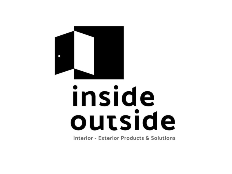 Inside Outside Interior firm idenity wordmark architects design interior interiors icon