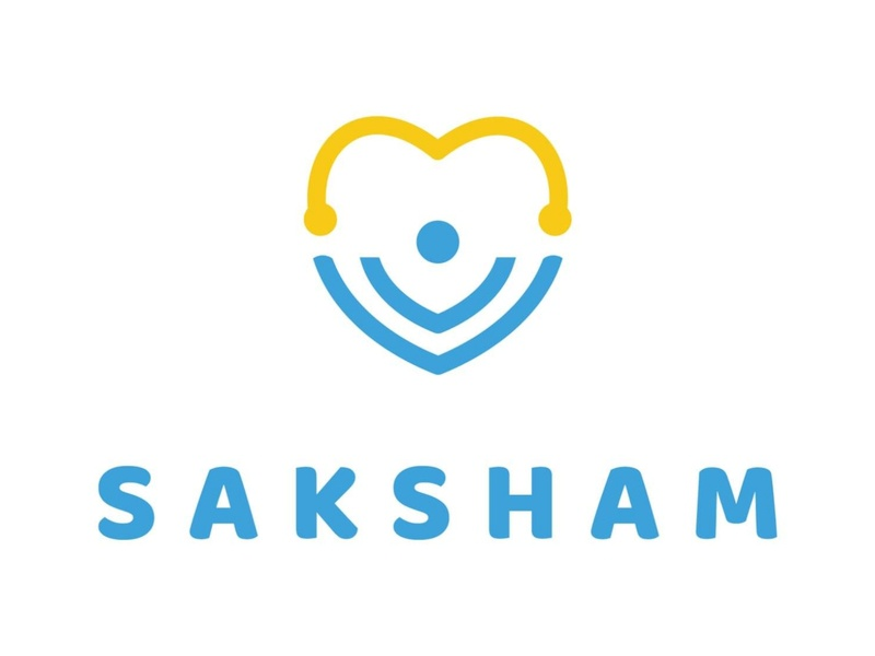 Saksham NGO Logo Design vector illustration architecture camera right excellent tick branding ui diamond wordmark