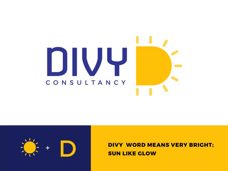 Divy Consultancy wordmark logo design divy loan home sun d