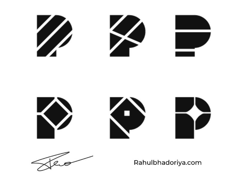 P Mark Exploration rahulbhadoriya property building design realestate logo exploration mark p