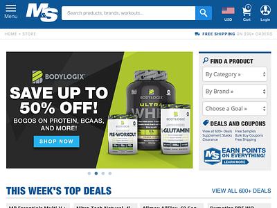 Muscle & Strength Website Design