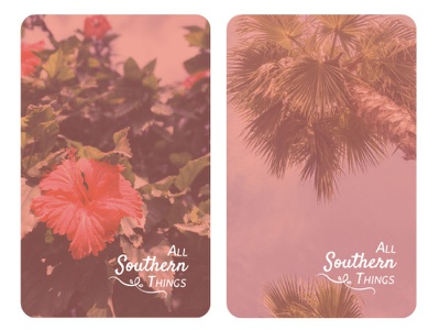 All Southern Things business card design blog southern brand