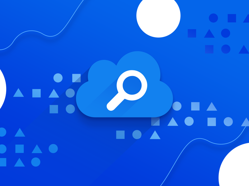 Azure Search waves search illustation white geometry cloud