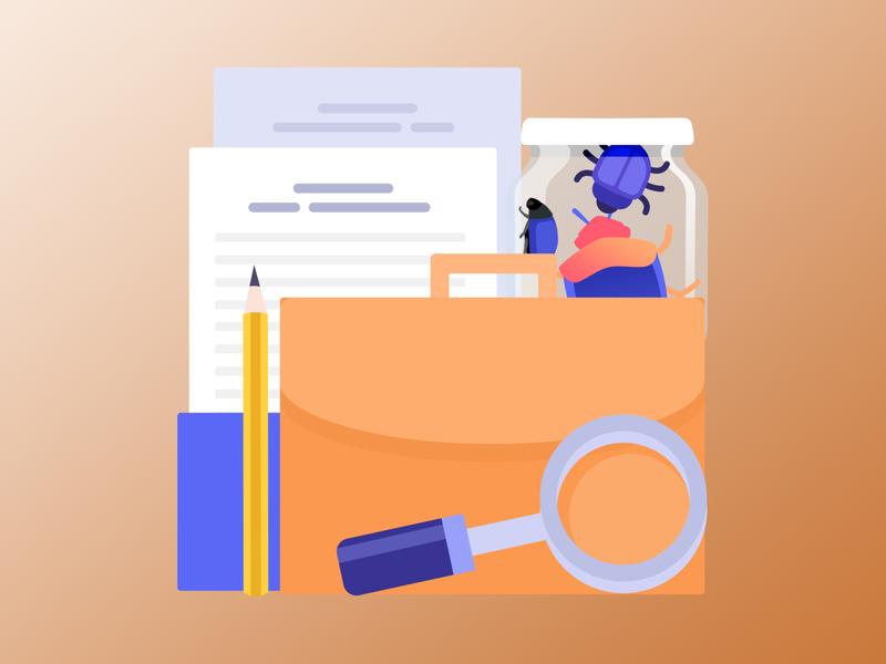 Illustrations for a website vector gradient desctop api cloud laptop