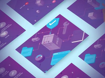 ASP.NET Core core backend scheme purple shadow data web process usability