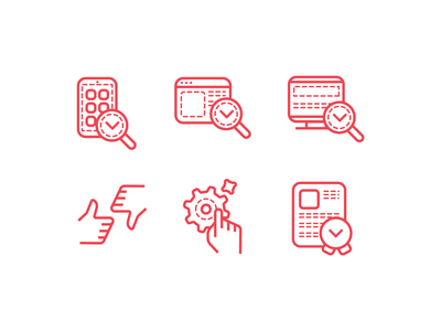 Website icons red like search app product website icons icon icon set