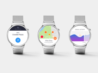 Wherepeeps Android Wear 2.0 app design