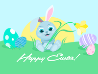 Happy Easter 2018 Illustration
