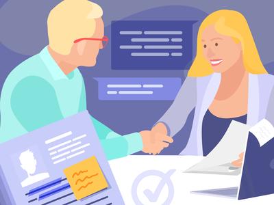 HR Manager Illustration