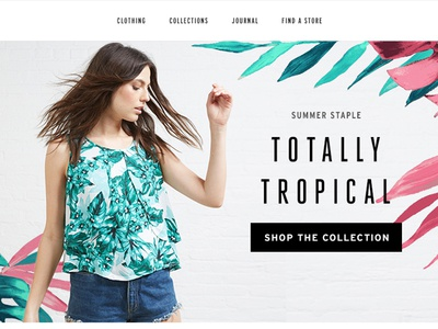 Tropical Prints Email layout fashion email banner