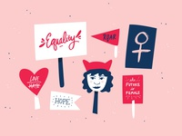 Womens March Illustration for BB Dakota