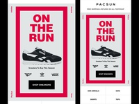 "PACSUN Men's ""On the Run"" Sneaker Email"
