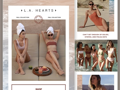 PacSun Women's Swim Email typography swim fashion texture layout email