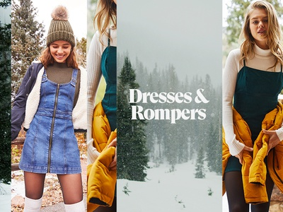 Women's Dresses & Rompers Banner for PacSun design banner typography layout fashion