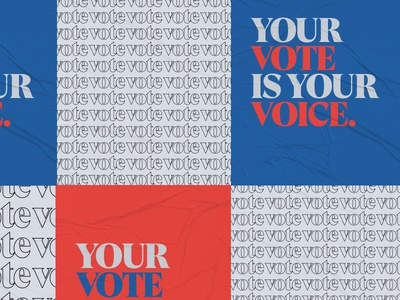 Your Vote is Your Voice layout typography election vote poster wheat paste