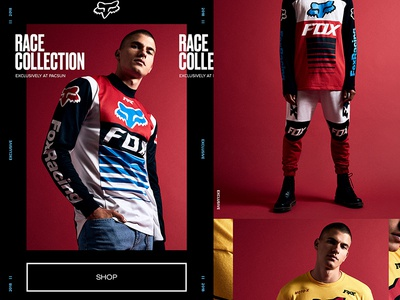Fox Racing Email for PacSun fox logo fox racing fox web design design typography email layout fashion