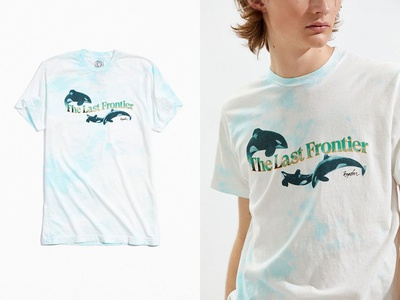 """Free Frontier"" Tee for KNGDM tie-dye apparel tee t-shirt layout killer whale orcas design typography fashion"